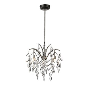 Napan 3-Light Crystal Chandelier by CWI Lighting