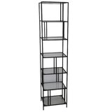 Chelsen 76 H x 18 W Metal Etagere Bookcase by Latitude Run®