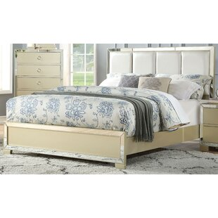Lancelot Upholstered Panel Bed by House of Hampton Great price