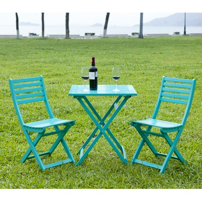 3 Piece Bistro Set Finish: Turquoise by HRH Designs
