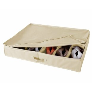 Price comparison 12 Pair Fabric Underbed Shoe Storage By Rebrilliant