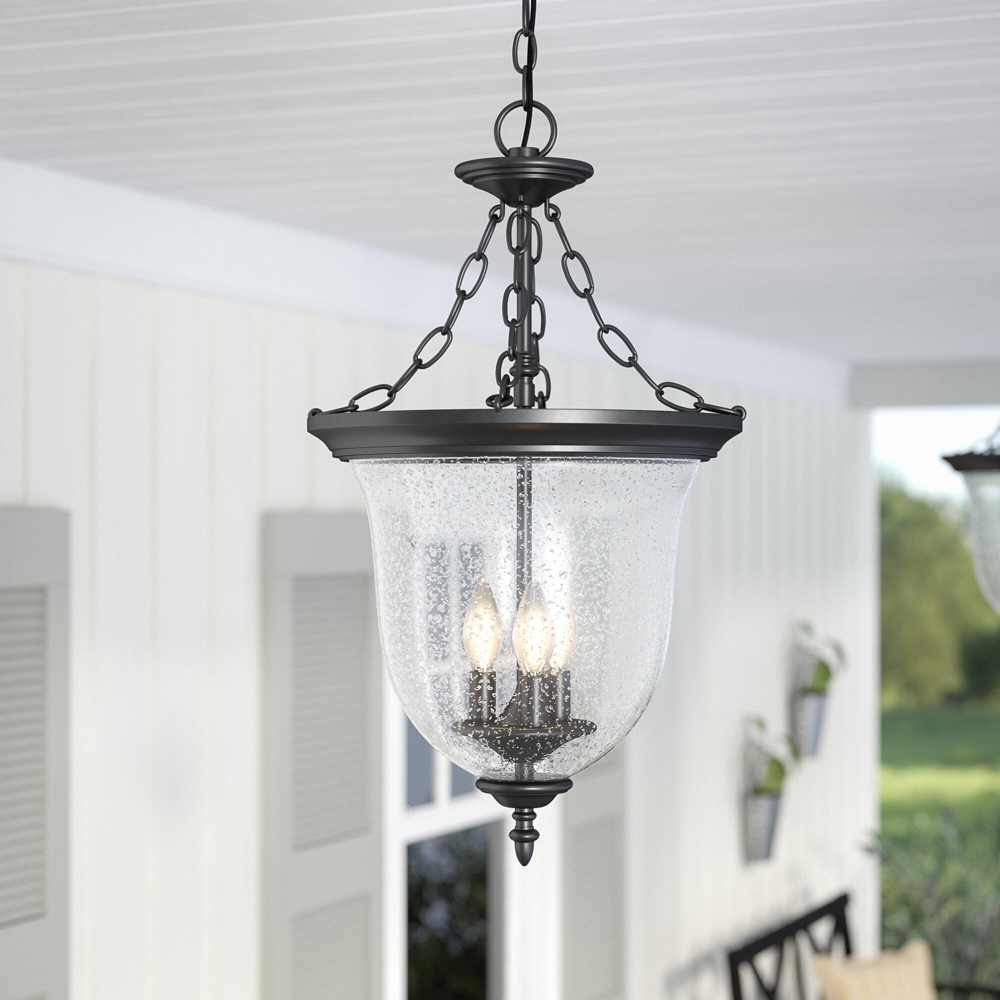 Laurel Foundry Modern Farmhouse Maxillaria 3-Light Outdoor Pendant ...