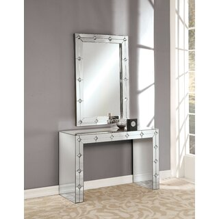 "Siobhan 47"" Console Table and Mirror by Rosdorf Park SKU:DE612889 Details"
