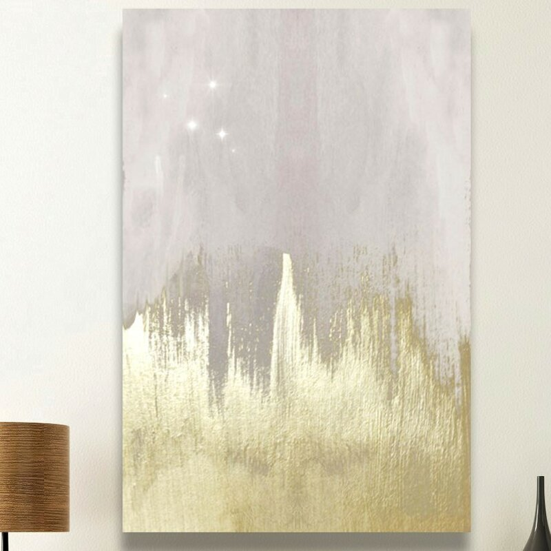 « Offwhite Starry Night », reproduction d'art sur toile tendue