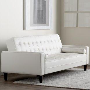 Orren Ellis Navi Faux Leather Sleeper Sofa
