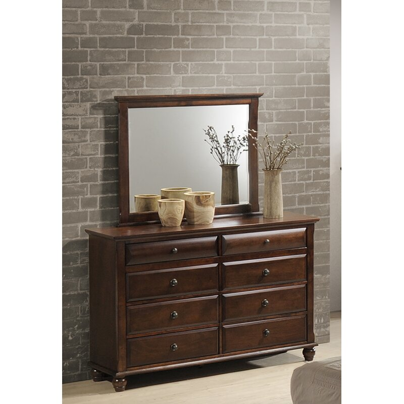 Darby Home Co Lehigh 8 Drawer Standard Dresser Chest With Mirror
