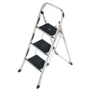3-Step Aluminum Step Stool with 330 lb. Load Capacity