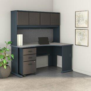 Bush Business Furniture Series A Right Corner 3 Piece U-Shaped Desk Office Suite