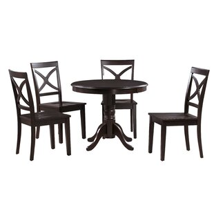 Cedarville 5 Piece Solid Wood Dining Set Alcott Hill