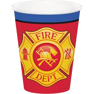Fire Truck Paper Disposable Cup (Set of 24)