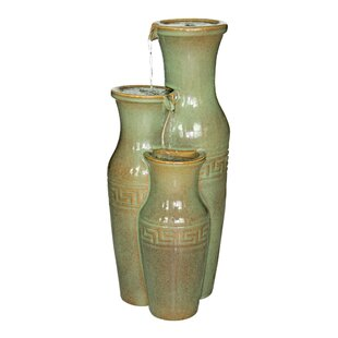 Ceramic Grecian Jars Garden Tiered Fountain