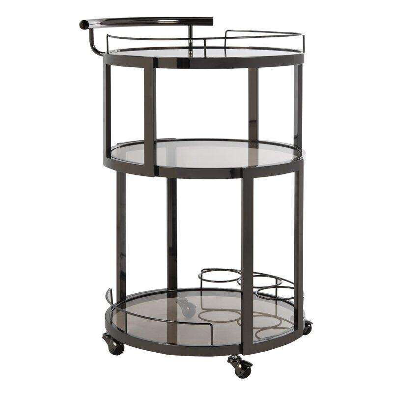 Mercer41  Cudney Wine Rack Bar Cart