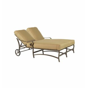 Leona Veracruz Double Chaise Lounge with Cushion