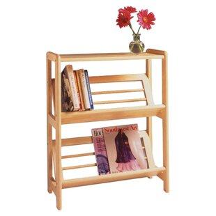 Basics Tilted Etagere Bookcase Winsome