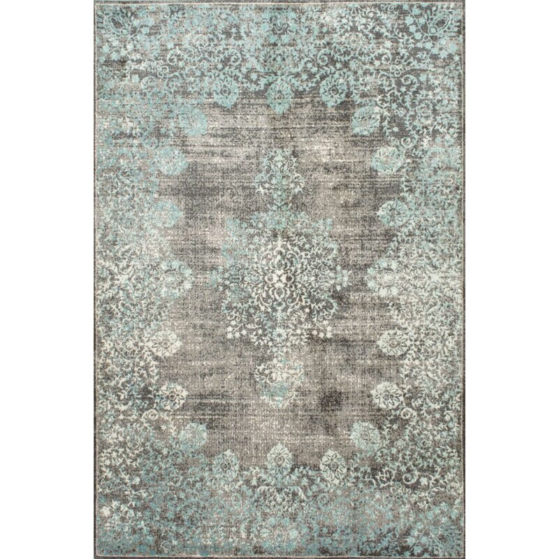 Mistana David Turquoise Blue Gray Beige Area Rug