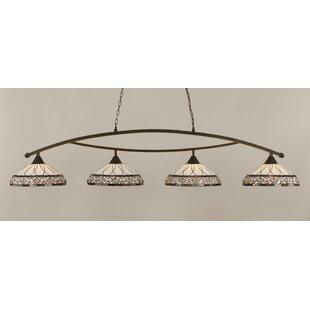 Astoria Grand Austinburg 4-Light Metal Kitchen Island Pendant