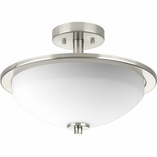 Read Reviews Knouse 2-Light Semi Flush Mount By Zipcode Design