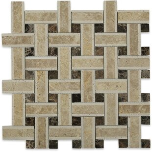 """Yarn 1"""" x 3"""" Marble Mosaic Tile in Woven by"""