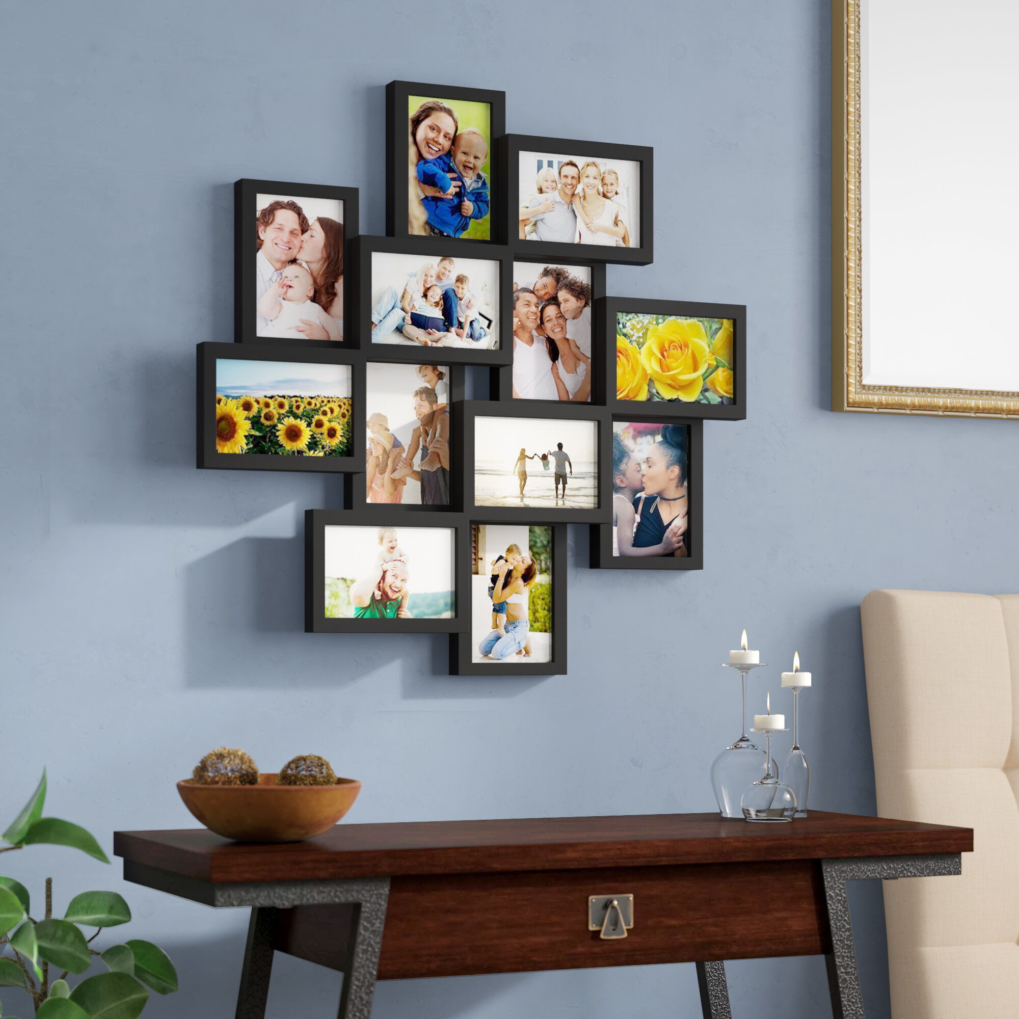 Photo Picture Hanging Frame Black Wall