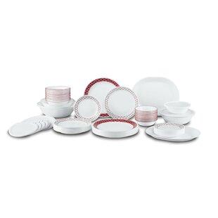 Crimson Trellis Living Ware 74 Piece Dinnerware Set Service for 12  sc 1 st  Wayfair & Southern Living Dinnerware | Wayfair