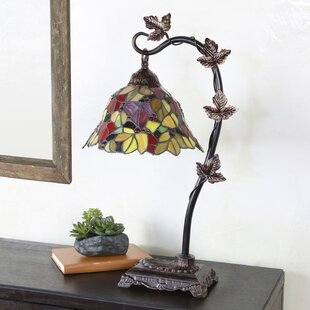 Lowder Floral Leaf 24 Arched Table Lamp