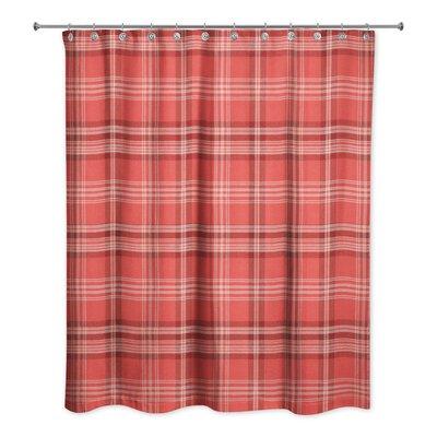 patridge plaid shower curtain