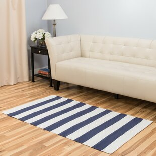 Purchase Hand-Loomed Blue/White Area Rug By Harbormill