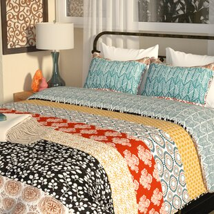 Tamela Stripe 3 Piece Reversible Quilt Set