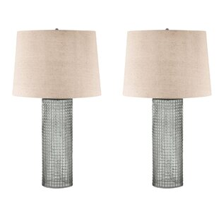 Wire cage lamp wayfair barboza with wire 28 table lamp set of 2 greentooth Gallery