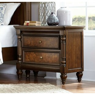 Barden Wooden 2 Drawer Nightstand by Canora Grey