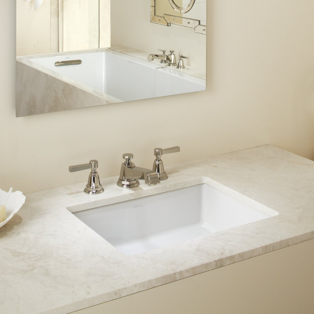 Verticyl Ceramic Rectangular Undermount Bathroom Sink With Overflow Reviews Birch Lane