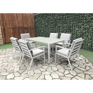 Wenzel 6 Seater Dining Set With Cushions By Sol 72 Outdoor