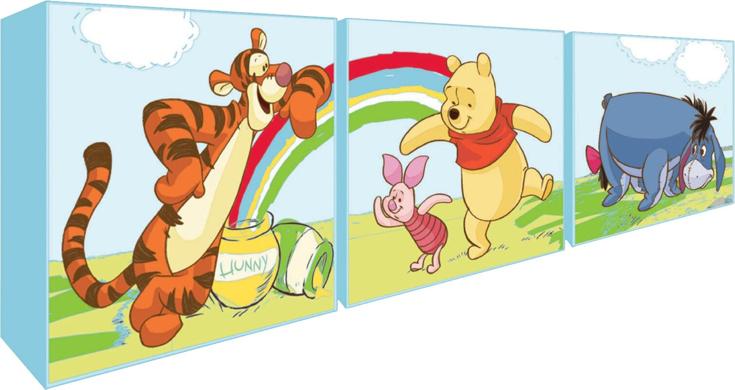 Disney Winnie The Pooh 3 Piece Graphic Art Wrapped on Canvas Set ...