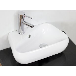 American Imaginations Ceramic Specialty Vessel Bathroom Sink with Overflow