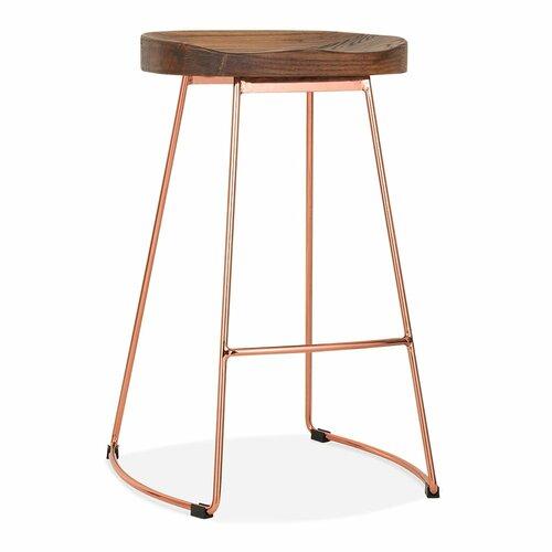 65 cm Barhocker Berthold | Küche und Esszimmer > Bar-Möbel > Barhocker | Braun/rosagold | Laurel Foundry