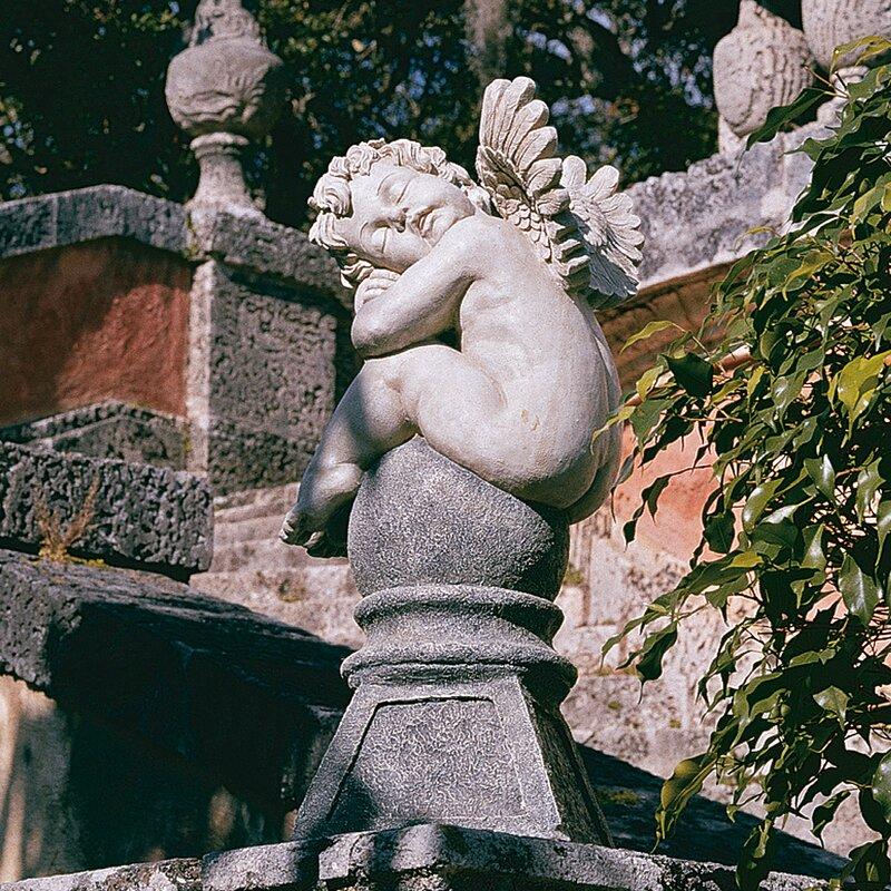Perfect Balancing A Dream Cherub Garden Statue
