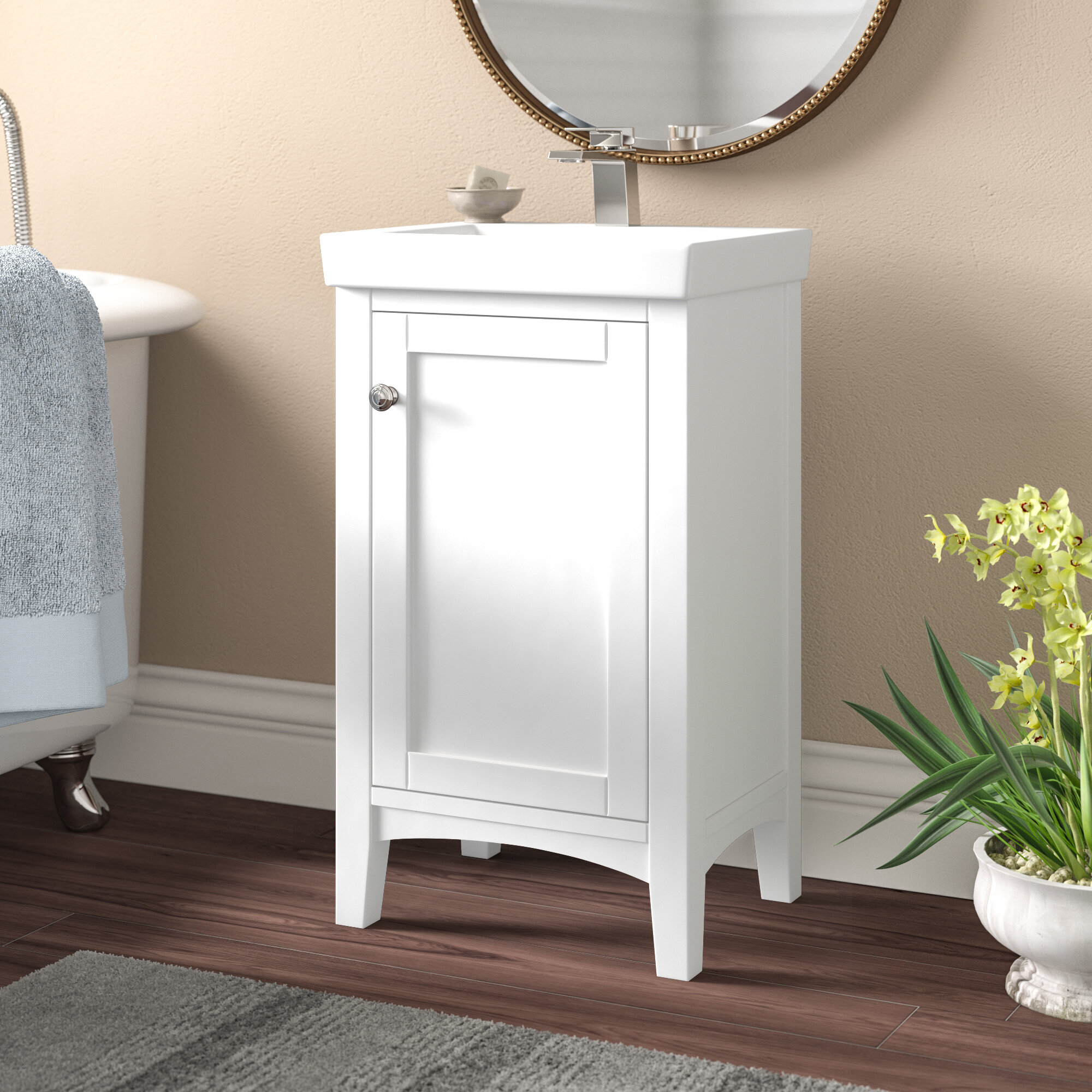 Andover Mills Aramis 18 Single Bathroom Vanity Set Reviews Wayfair