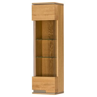 Review Racquel 1 Door Wall Display Cabinet