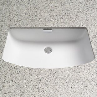 Soiree Ceramic Rectangular Undermount Bathroom Sink with Overflow Toto