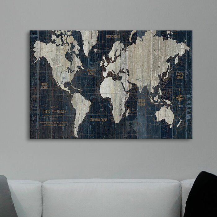 Mercury row old world map graphic art print on wrapped canvas old world map graphic art print on wrapped canvas gumiabroncs Image collections