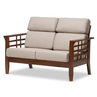 Baxton Studio Armanno 2 Seater Living Room Loveseat