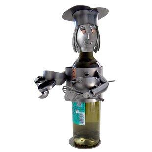 Chef Female 1 Bottle Tabletop Wine Rack by H & K SCULPTURES