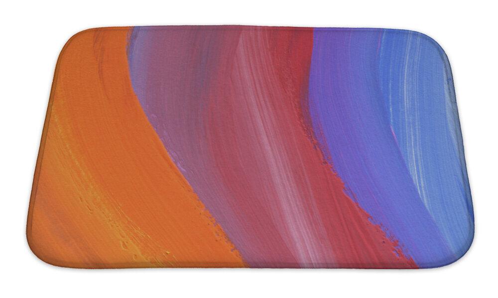 Ivy Bronx Kamp Abstract Acrylic And Watercolor Painted Bath Rug Wayfair