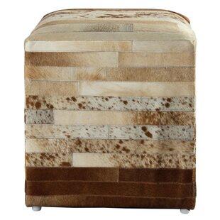 Glacier Leather Cube Ottoman