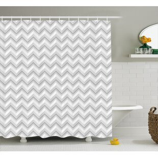 Price Check Bergan Zig Zag Chevron Motif Shower Curtain By Wrought Studio