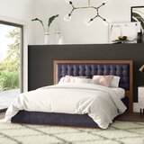 Criss Tufted Solid Wood and Upholstered Platform Bed by Mercury Row