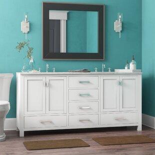 Price Check Poyen 72 Double Bathroom Vanity Base Only ByCharlton Home