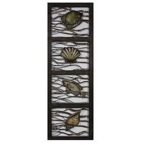 Wood Metal Wall Decor wood fish decor | wayfair