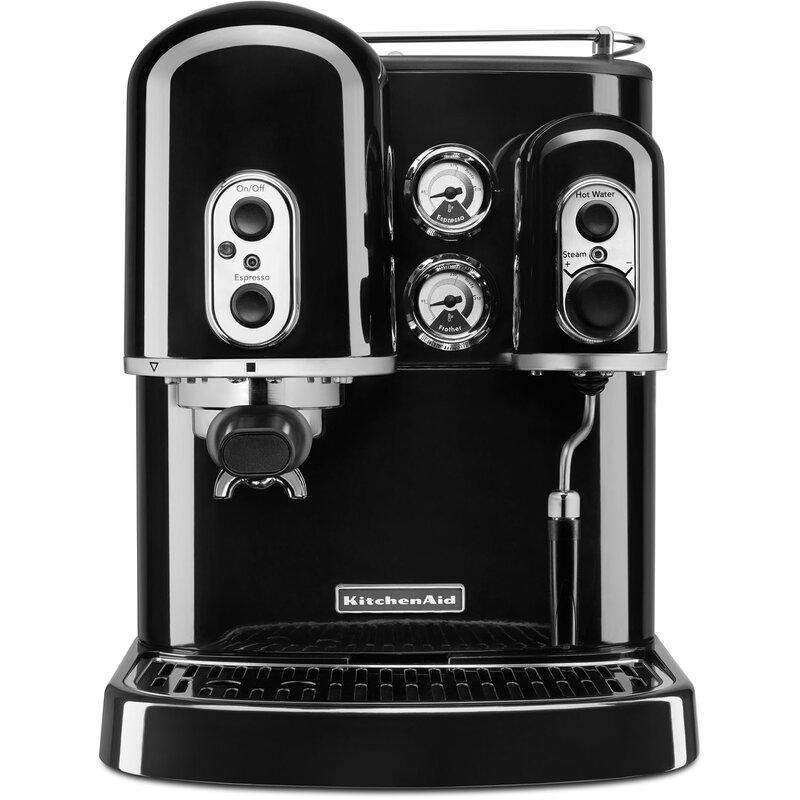 kitchenaid pro line semi automatic espresso machine reviews wayfair rh wayfair com