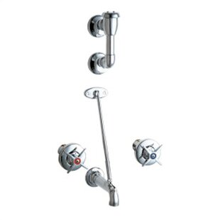 Chicago Faucets Wall Mounted Bathroom Faucet with Double Cross Handles